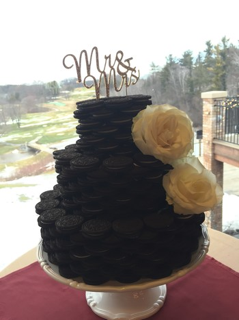 Oreo Cookie Wedding Cake
